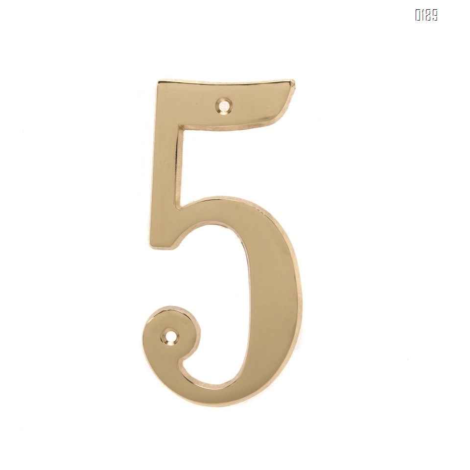 6 inch Copper Plaque for Outdoor Address Plate of Household Door Brass Number in 140 mm Grand Modern Door Number Hotel