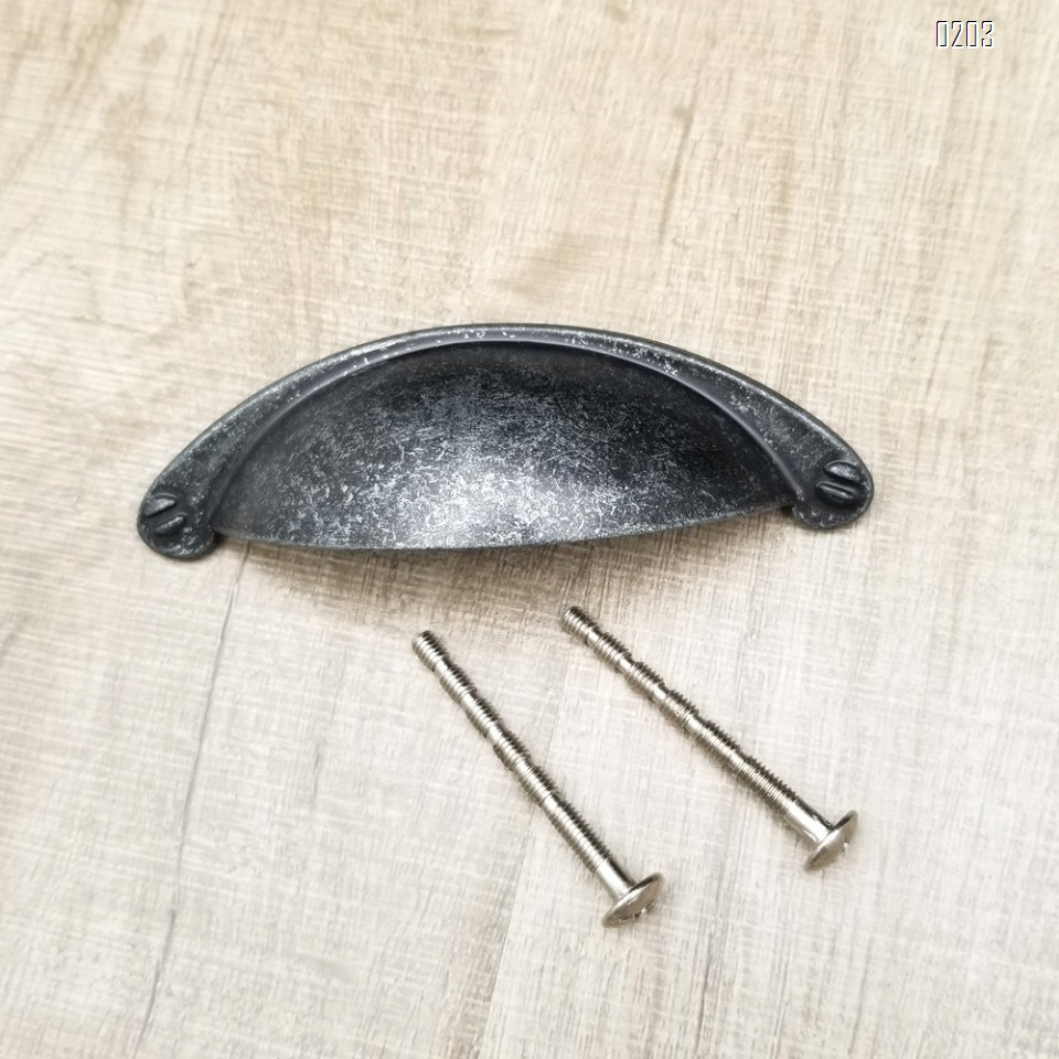 6 Pack Zinc Alloy Vintage Farmhouse Drawer Pulls Modern Kitchen Hardware Cabinet Door Pull Handle Flat 64mm Hole Spacing 6 Pack