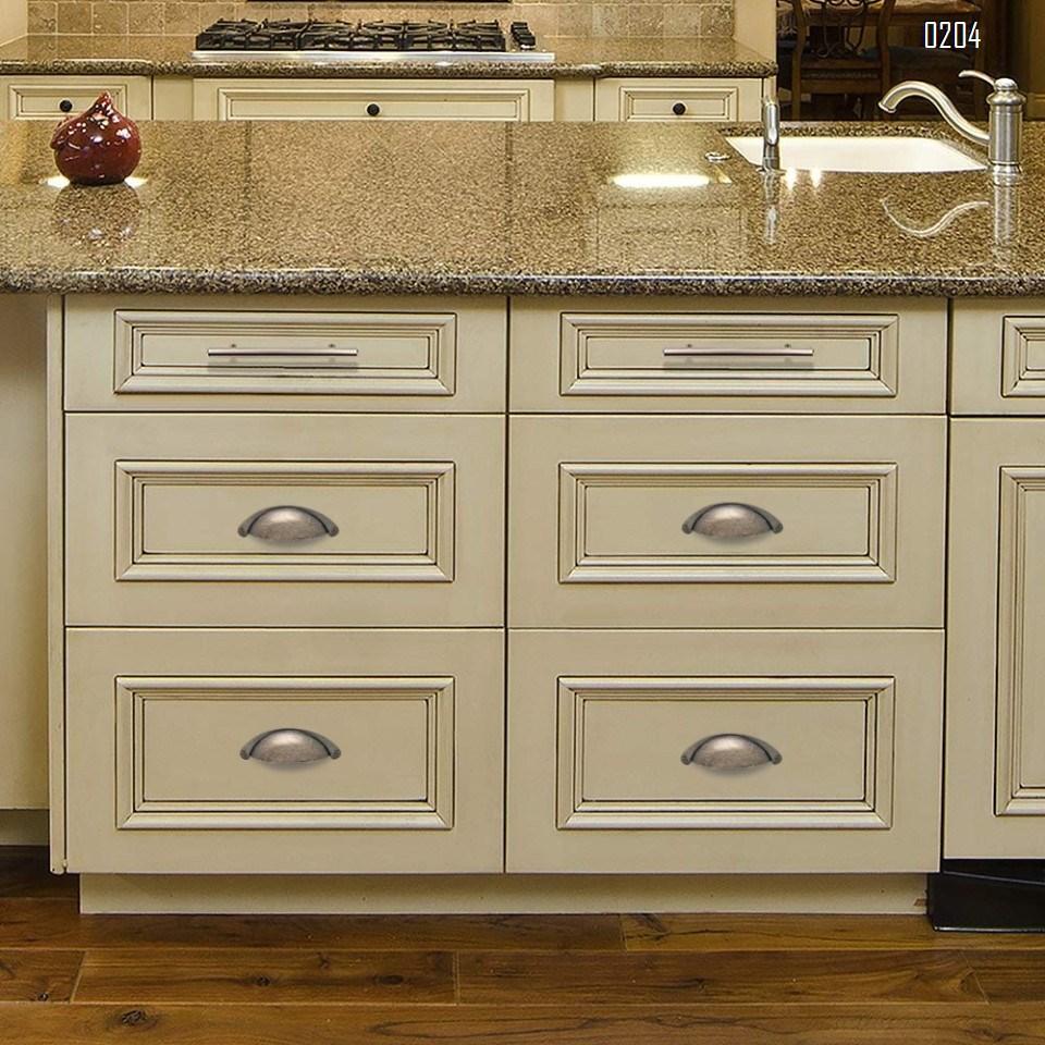 6 Pack Zinc Alloy Vintage Farmhouse Drawer Pulls Modern Kitchen Hardware Cabinet Door Pull Handle C C