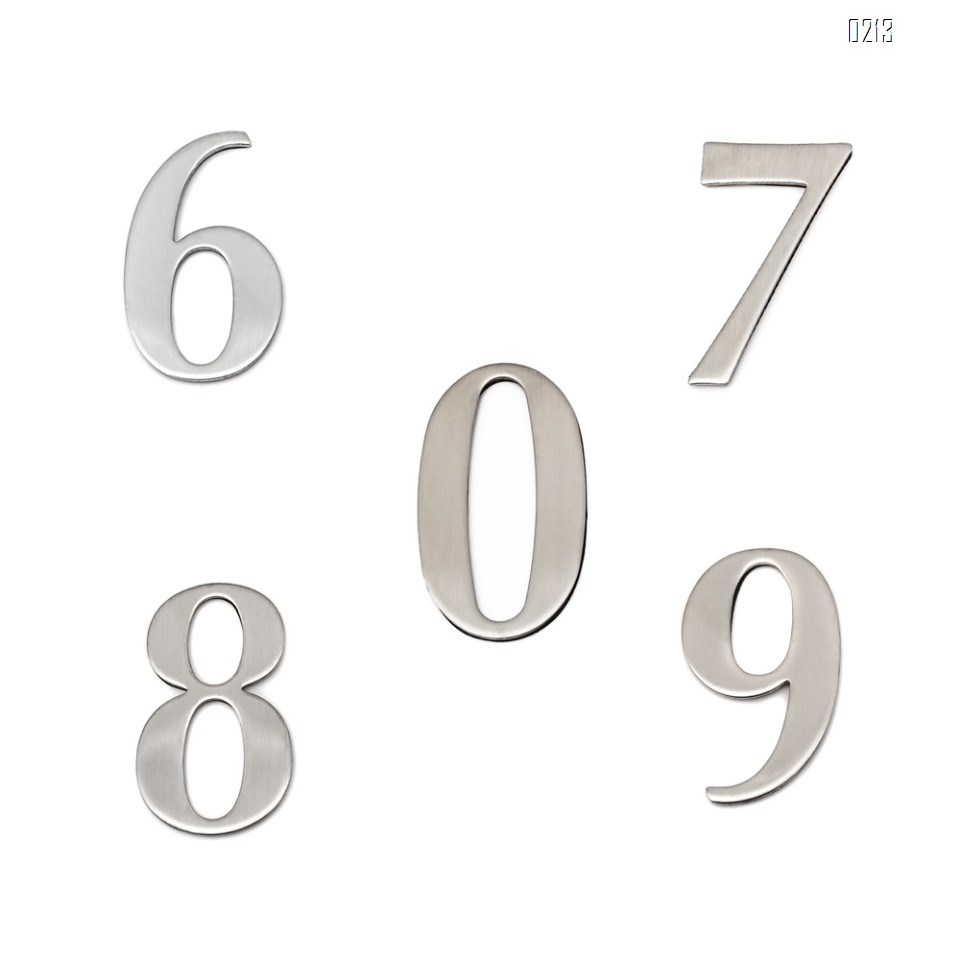 Self 1.4 Inch Mailbox Numbers 0-9,  Number Stickers for House/Apartment/Floor,  304 Stainless Steel
