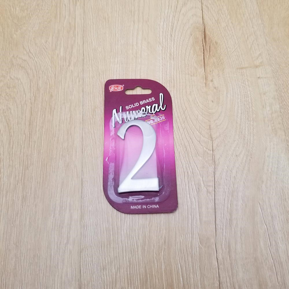 self adhesive house  number 2,1.4 inch Mailbox Numbers,304 Stainless Steel