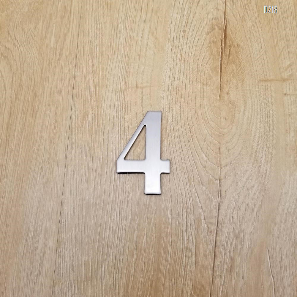 self adhesive house  number 4,1.4 inch Mailbox Numbers,304 Stainless Steel