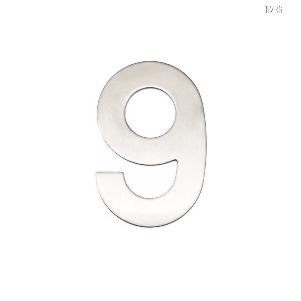 4 Inch House Numbers 9, Door Address Number Stickers for House/Apartment/Floor,  304 Stainless Steel