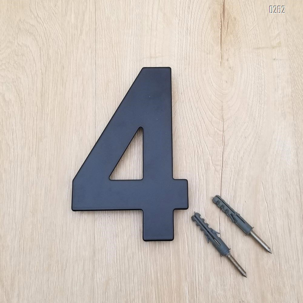 6 inch 145mm Big Modern House Number Hotel Home Door Room Number Outdoor Address Plaque Iron House Number 4