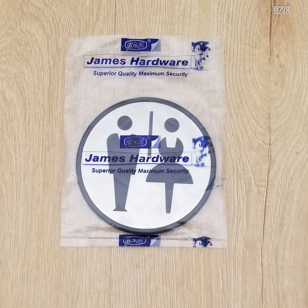 Self Sticker Round Unisex Sign  Restroom, Bathroom Door Sign for Offices, Businesses,Stainless Steel Plus Plastic bathroom signs