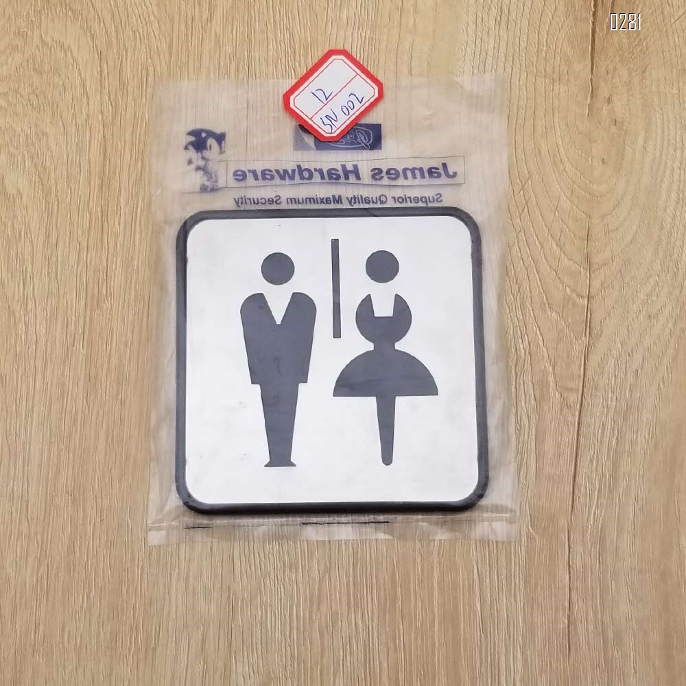 Self Sticker Unisex Bathroom Signs,  Bathroom Door Sign for Offices, Businesses,Stainless Steel Plus Plastic bathroom signs