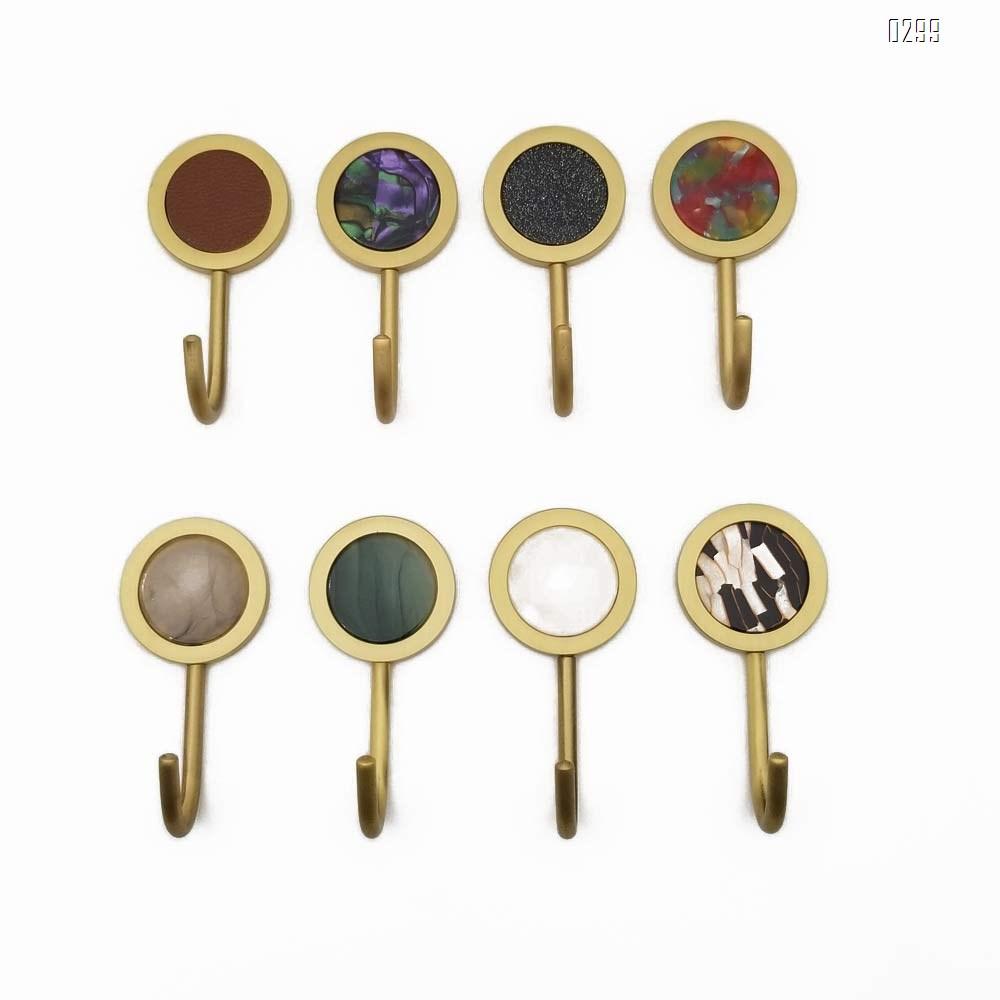 Nordic Decorative Hooks/ Pearl Shells Brass Wall Hooks/ Coat Hooks/ Bathroom Kitchen Towel Hooks/ Hat Hangers Bag Hooks/ Decorative Hooks Dazzle color