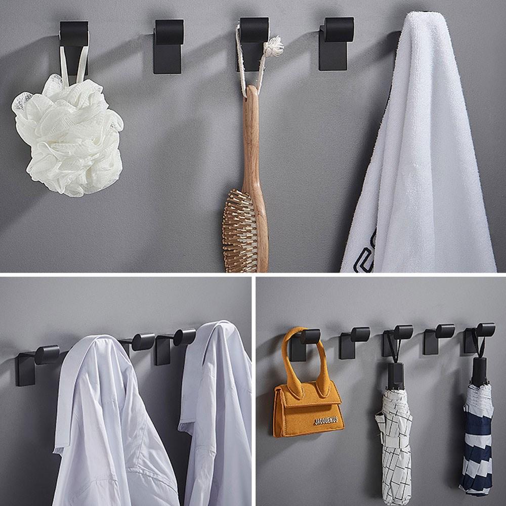 Wall Coat Hook,Adhesive Hooks,Aluminum Alloy Heavy Duty Single Towel Hook, Hanging Jackets Headset Robe Clothes Hat