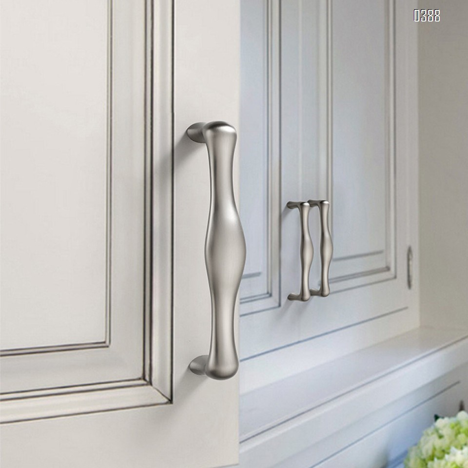 Three Colors Zinc Alloy European Style Rounded Foot Cabinet Hardware Handles 128mm Kitchen Drawer Pulls, 5 Inch Hole Centers