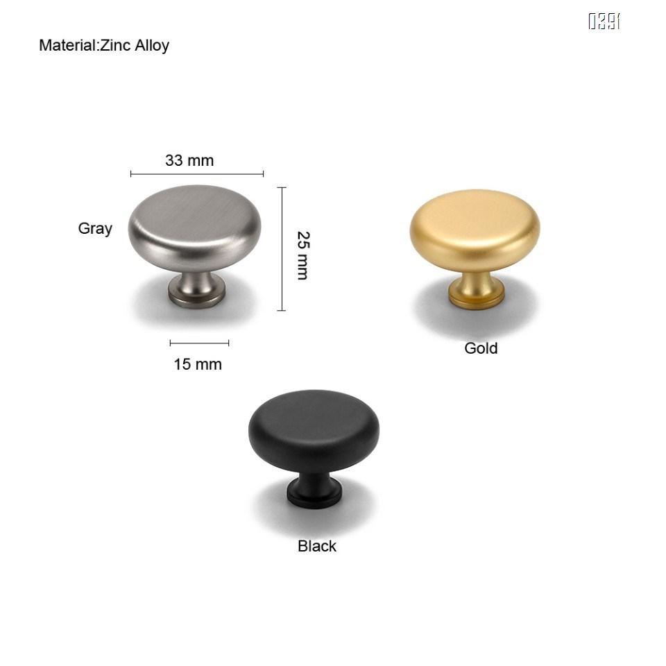 Zinc Alloy Cabinet Round Knob 1.3 inch Diameter 1.3 inch Diameter plated brushed Drawer Knob