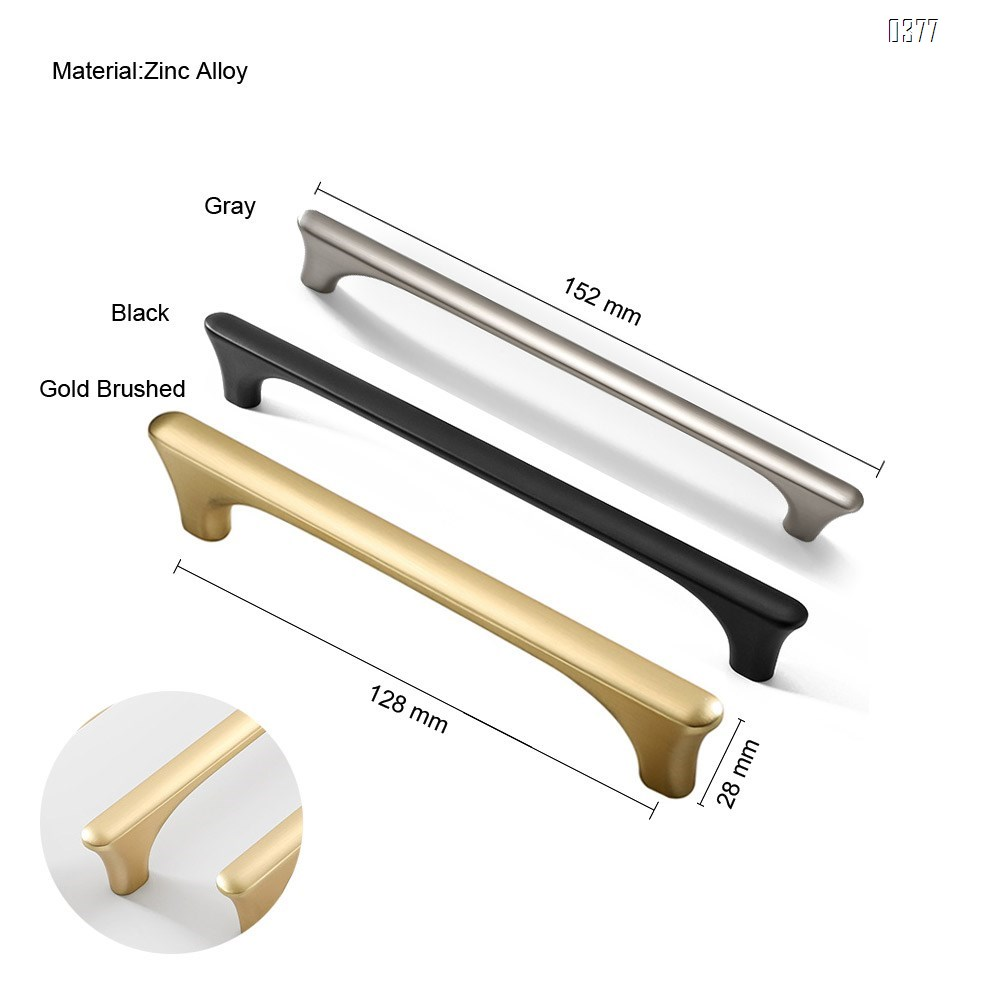 Wire Pull  Zinc Alloy Kitchen Cabinet Handles Drawer Pulls Hole spacing128mm
