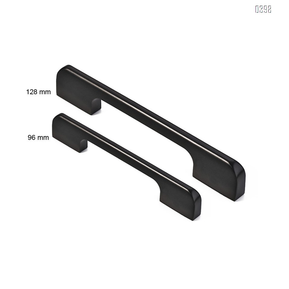 Aluminium Alloy Drawer Pulls Kitchen Hardware Cabinet Handles, 5 Inch (128mm) Hole Centers, Matte Black