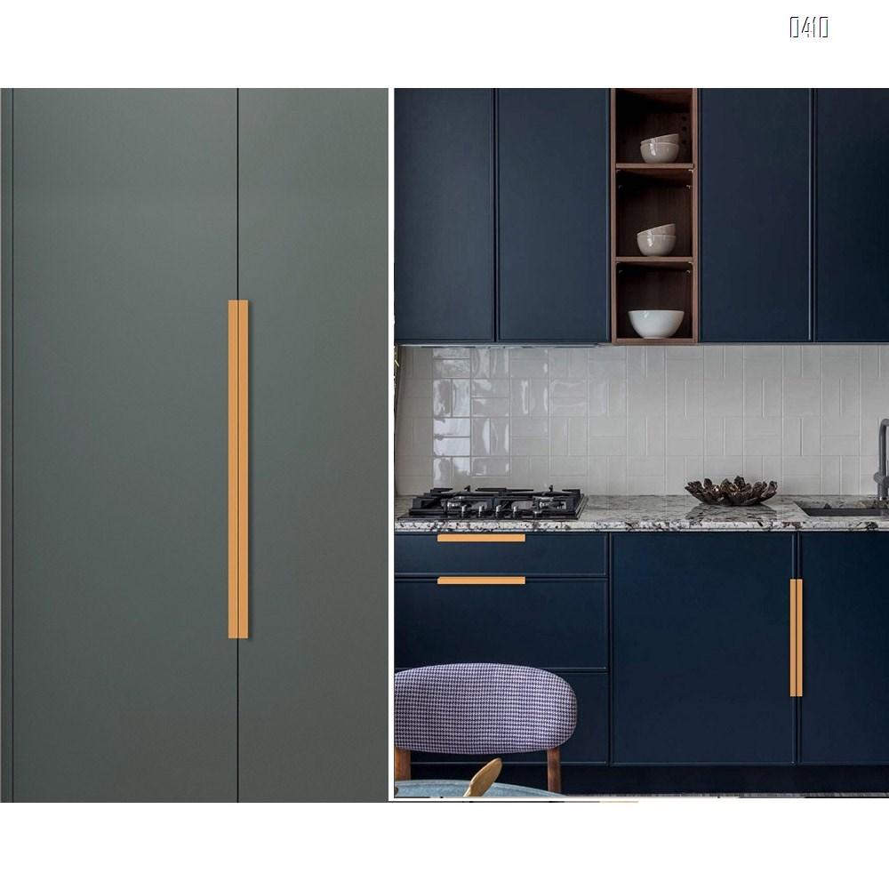 Modern Style Finger Edge Pull Furniture DrawerHandles Hidden Cabinet Kitchen Drawer Concealed Handle Hole Centers 128 mm