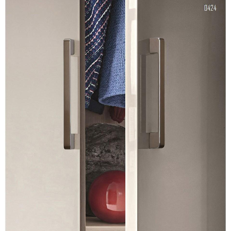 Modern  Square Drawer Pulls Zinc Alloy Kitchen Hardware Cabinet Handles, 128mm Hole Centers