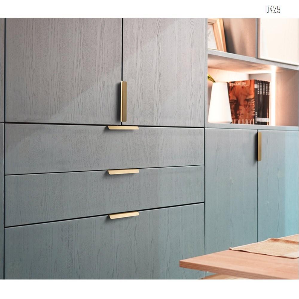 160 mm Hole Center Black And Gold Mount Finger Edge Pull Concealed Handle for Home Kitchen Door Drawer Cabinet