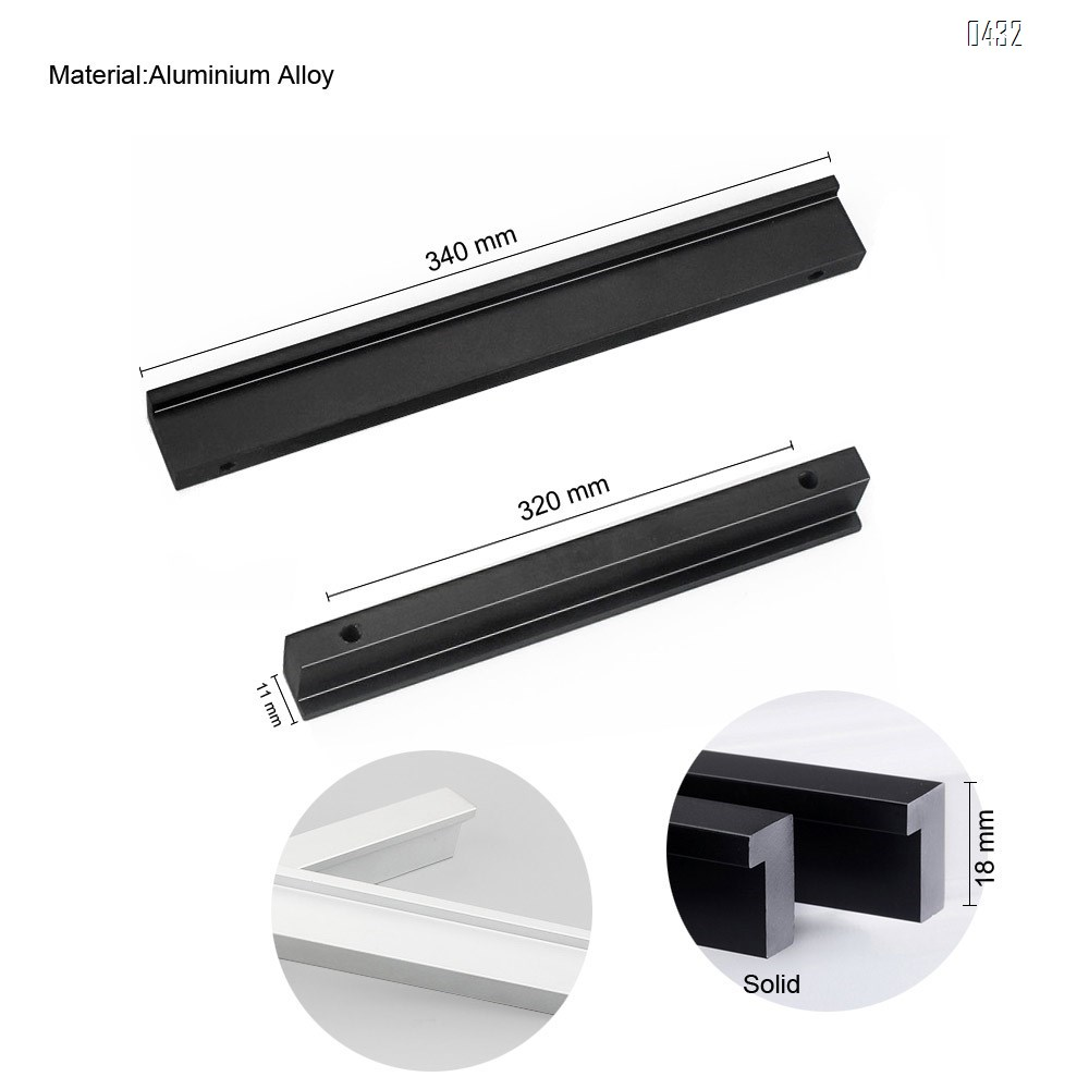 7 shape Solid Aluminium Alloy 320mm Hole Centers Cabinet Hardware Modern Drawer Handles Pulls