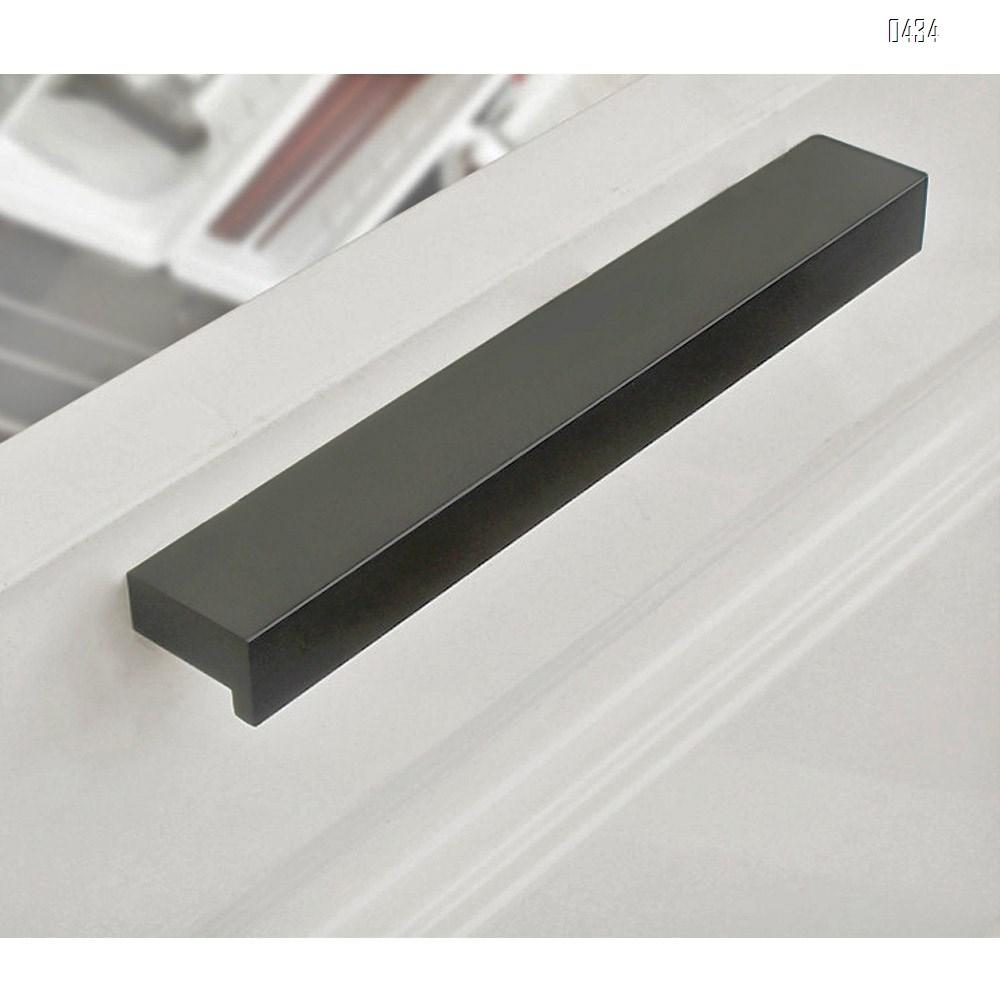 7 shape Solid Aluminium Alloy 64mm Hole Centers Cabinet Hardware Modern Drawer Handles Pulls