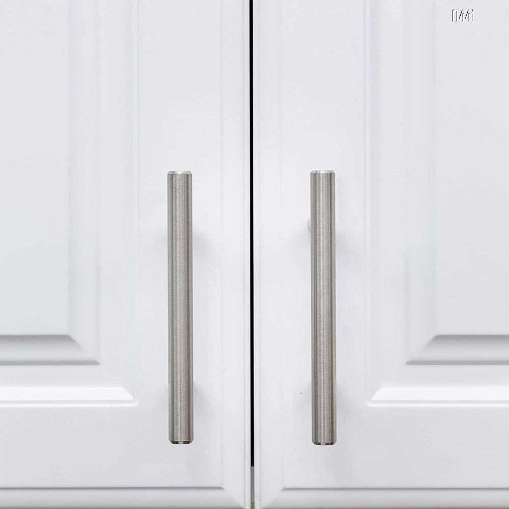 Cabinet Handles Brushed Nickel Cabinet Pulls - Cabinet Hardware 2.5 Inch Hole Centers Drawer Pulls Kitchen Cupboard Euro T Bar Dresser Pulls
