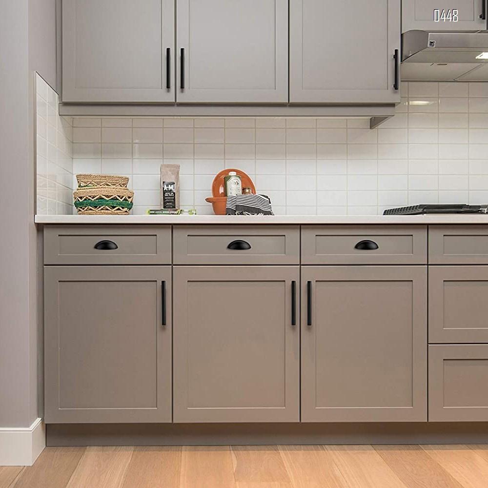 Drawer Pulls Flat Black Cabinet Cup Pulls Kitchen Hardware Cabinet Handles Drawer Handles Knobs 3 inch Hole Center