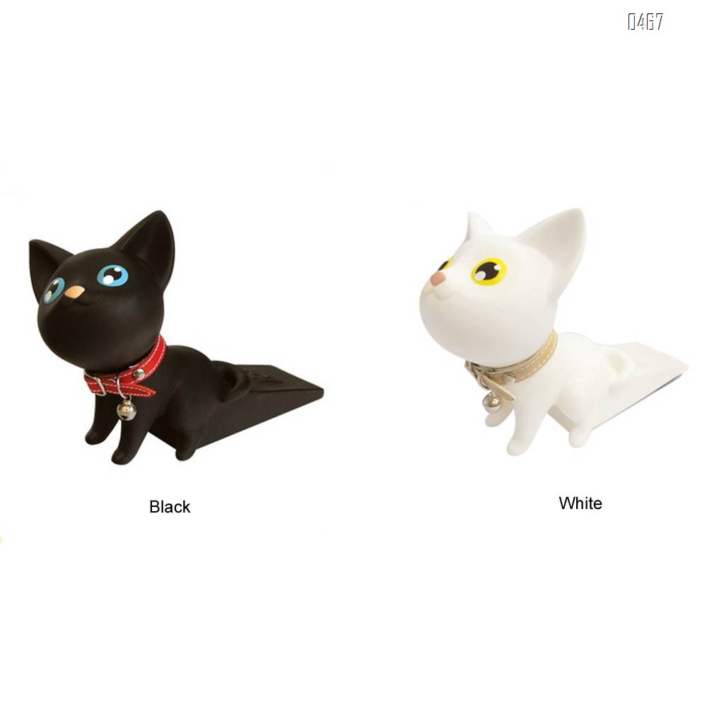 Animal door stop cute kitten decorative door stop hole free anti-collision door stop child anti pinch hand door stop