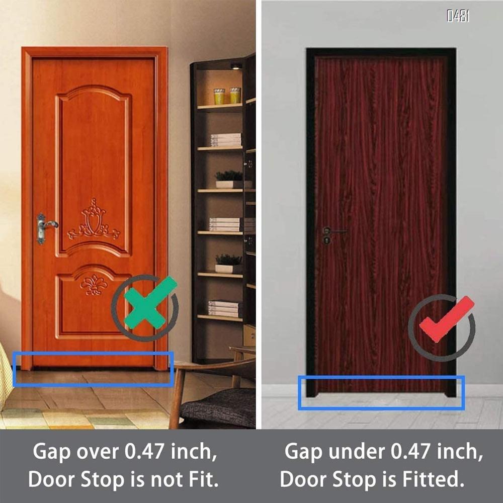 Door Stops, Magnetic Door Stop with 3M Adhesive No Drilling, Brushed Satin, Black Flush Modern Floor Mount Magnetic Door Catch Door Holder
