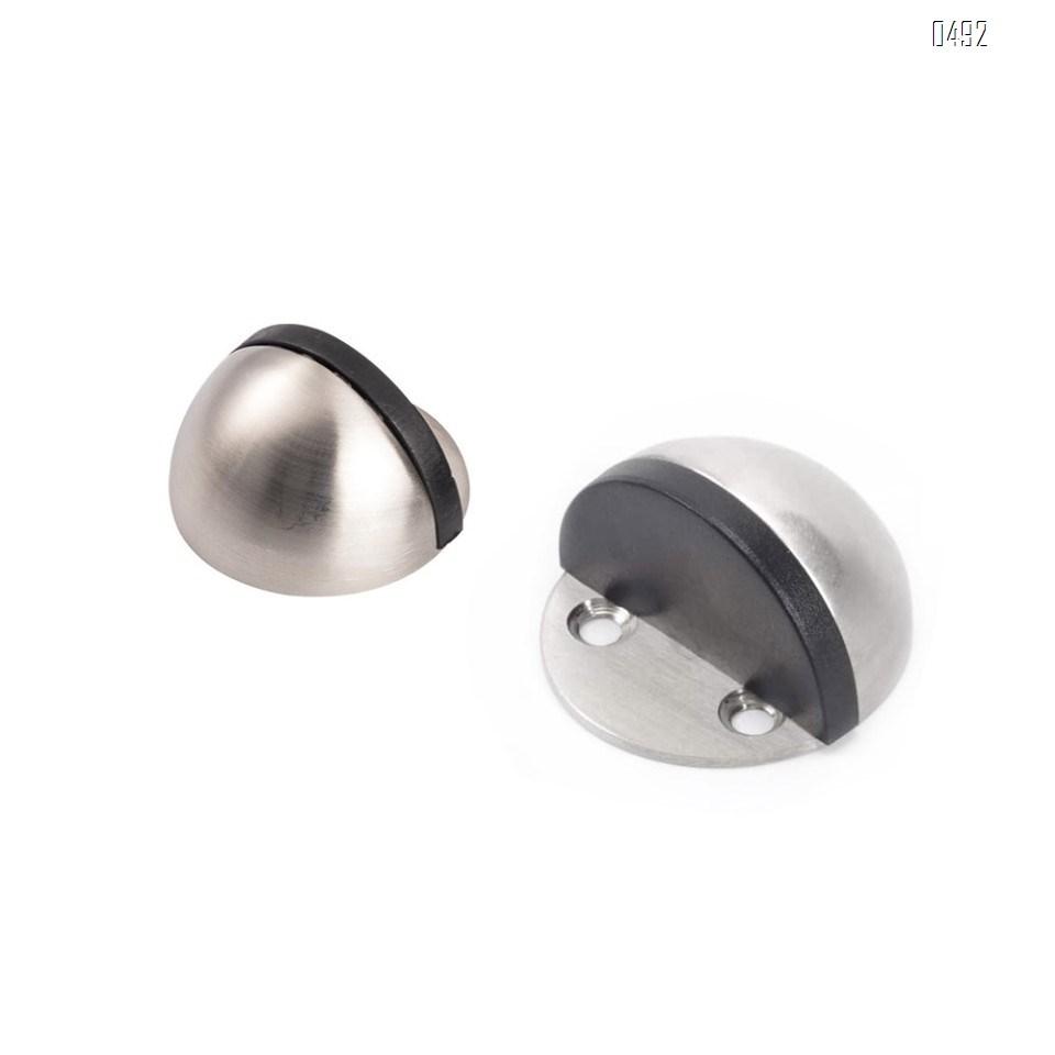 Gate Resistance, Dome Shaped Stainless Steel Brushed Satin Nickel Door Stop, Modern Soft-Catch Mute Door Holder Doorstop for Hotel Home Restaurant