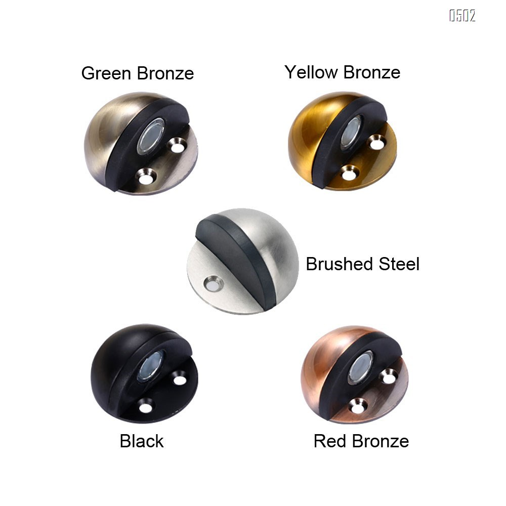 Magnetic Door Stopper, Floor Door Stop Stainless Steel Sound Dampening Bumper Wall Protetor , Brushed