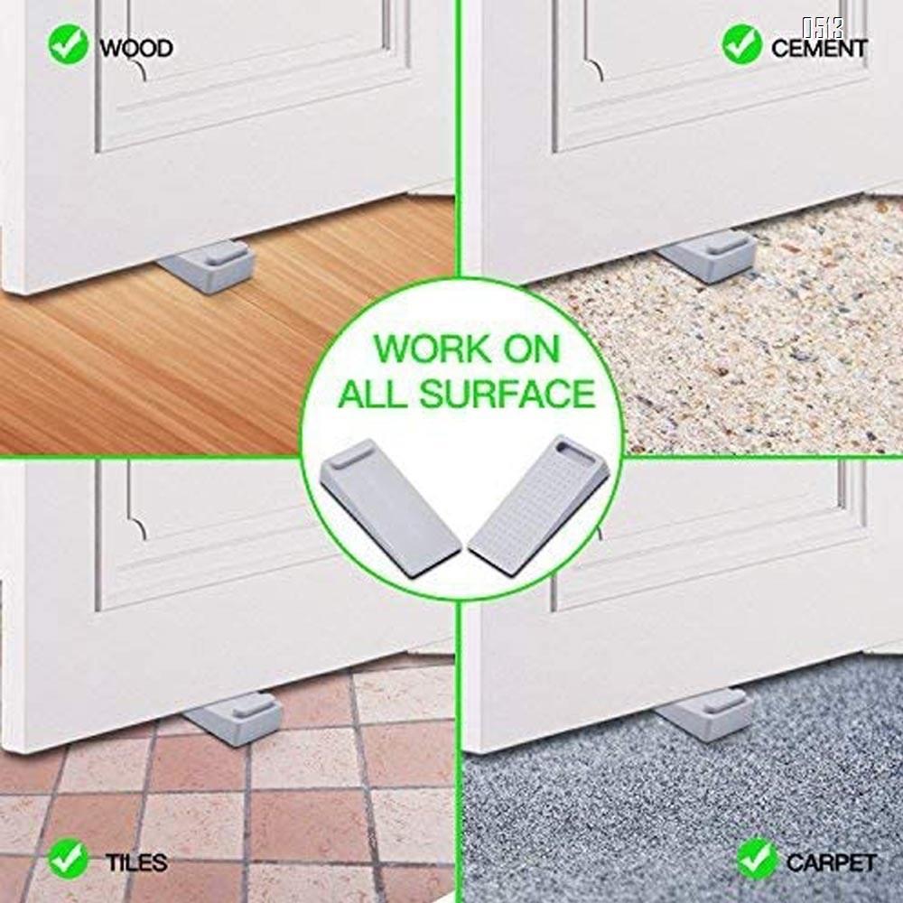 Door Wedge Rubber, Door Stopper, Heavy Duty Slip-resistant and Stackable Door Holders, Adjustable Height and Strong Grip on Tiles, Carpet, Wood,Cement and Laminate Floor