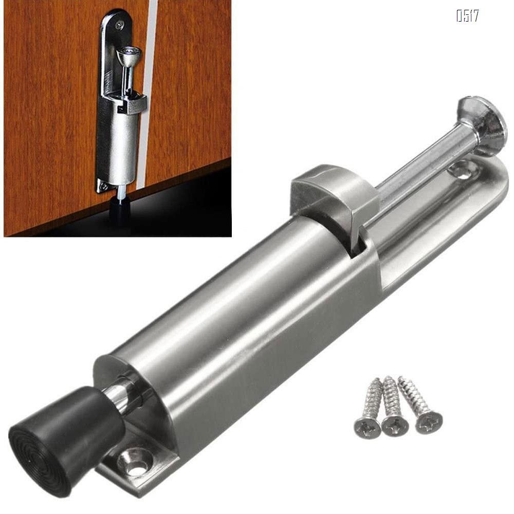 Kick Down Door Locks Stopper Holder Spring Loaded Adjustable Door Holder Zinc Alloy Foot Spring Loaded Door Retainer with Extra-Strong Traction