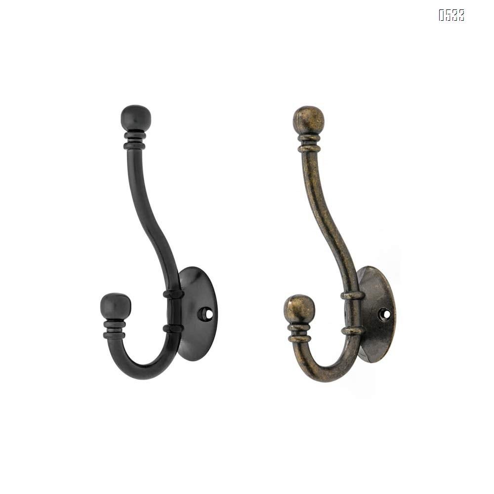 Pack Heavy Duty Decorative Dual Coat Hook - Great for Wall Mounted Hook Rack, Coat Hanger