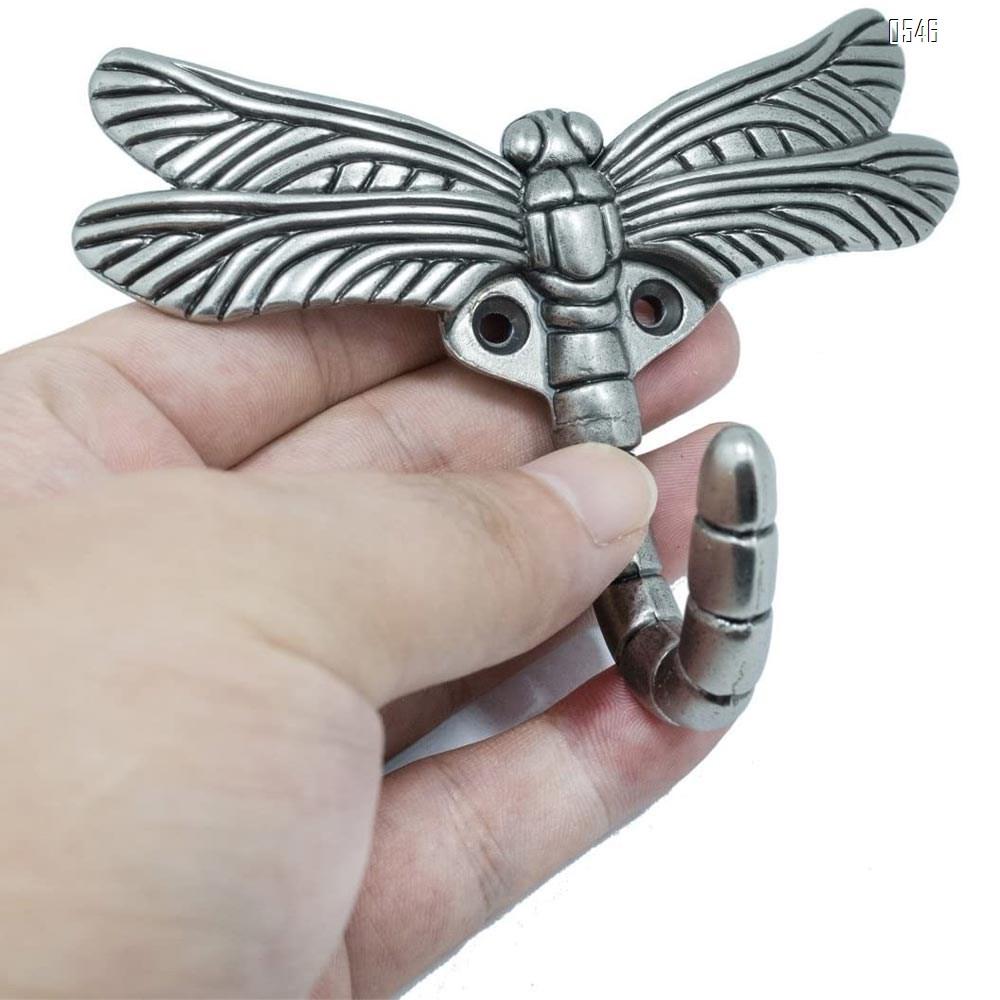 Artistic Creative dragonfly shaped Clothes Hook Clothes Hanger Zinc Alloy Hook Cabinet Pull Door hardware Matt Hook