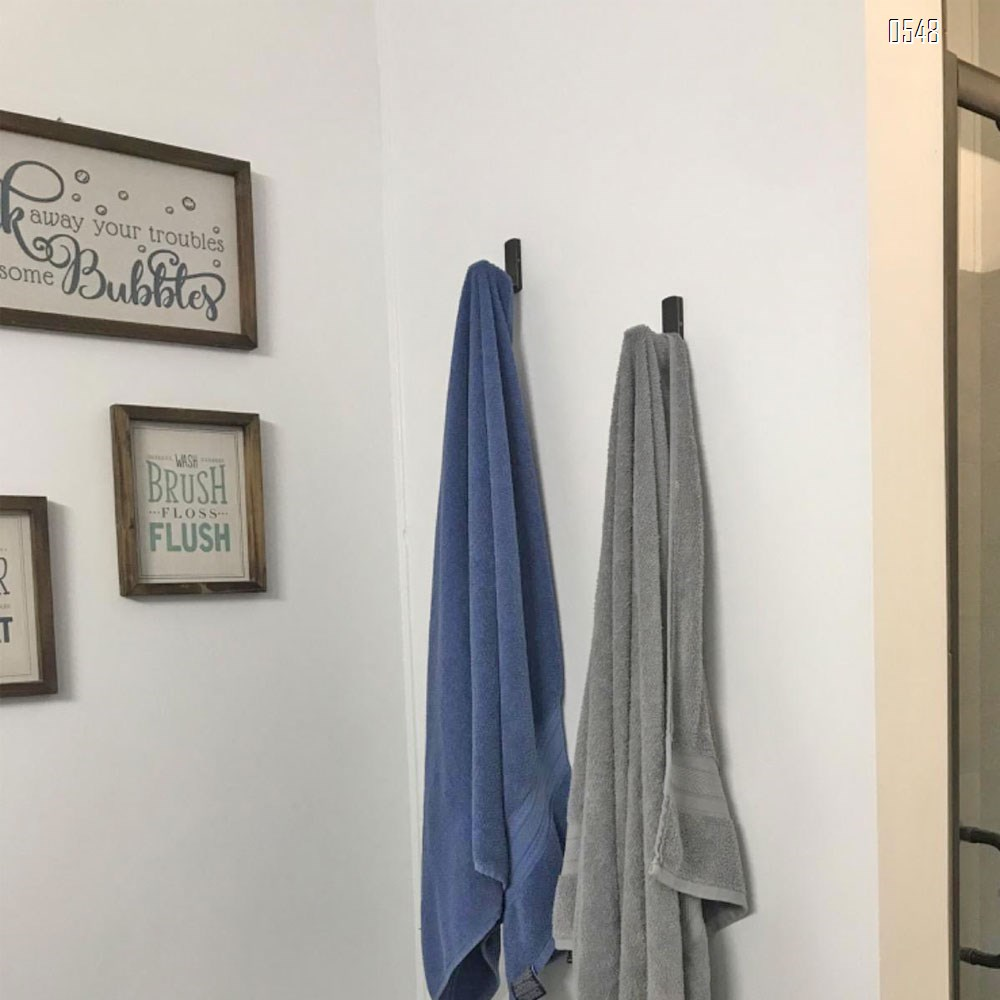 Bathroom Single Towel Wall Hook Oil Rubbed Bronze Bathrobe Coat Hanger Premium Brass Hand Towel Holder Organizer Heavy Duty Kitchen Lavatory Closet Hat Handbage Hanging Rack