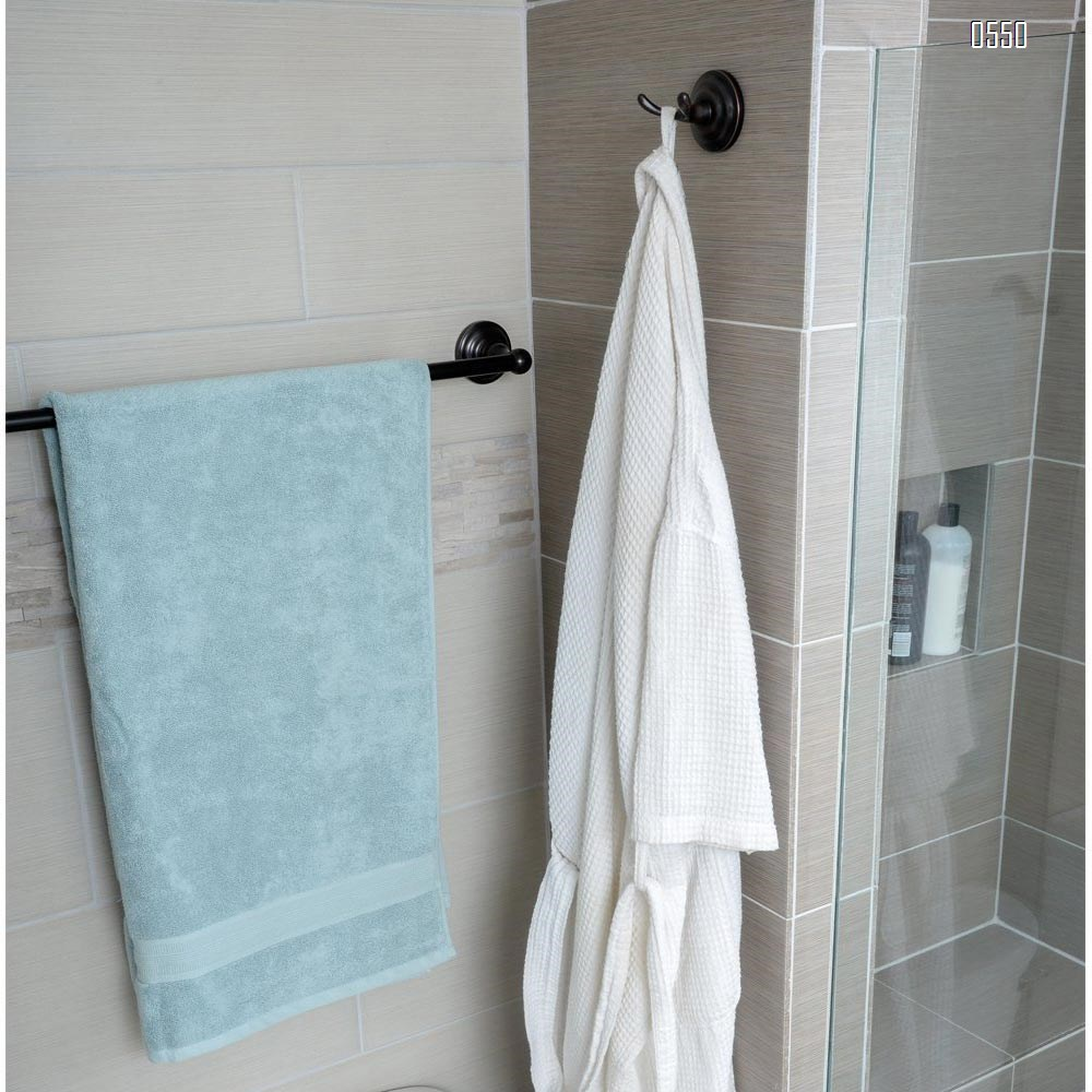 European Vintage BronzeTraditional Bathroom Towel and Robe Hook