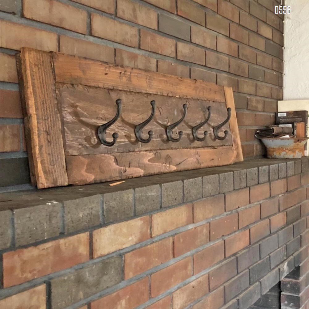 Decorative Rustic Cast Iron, Wall Mounted Coat Hooks Vintage Inspired, Modern Farmhouse, Coats, Bags, Hats, Towels (Antique Black)