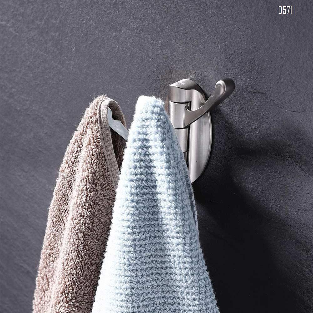 Swivel Hooks Solid Metal Foldable Towel Hooks with Multi Three Rotating Arms Swing Arm Triple Robe Hook Hanger, Wall Mounted, Brushed Nickel