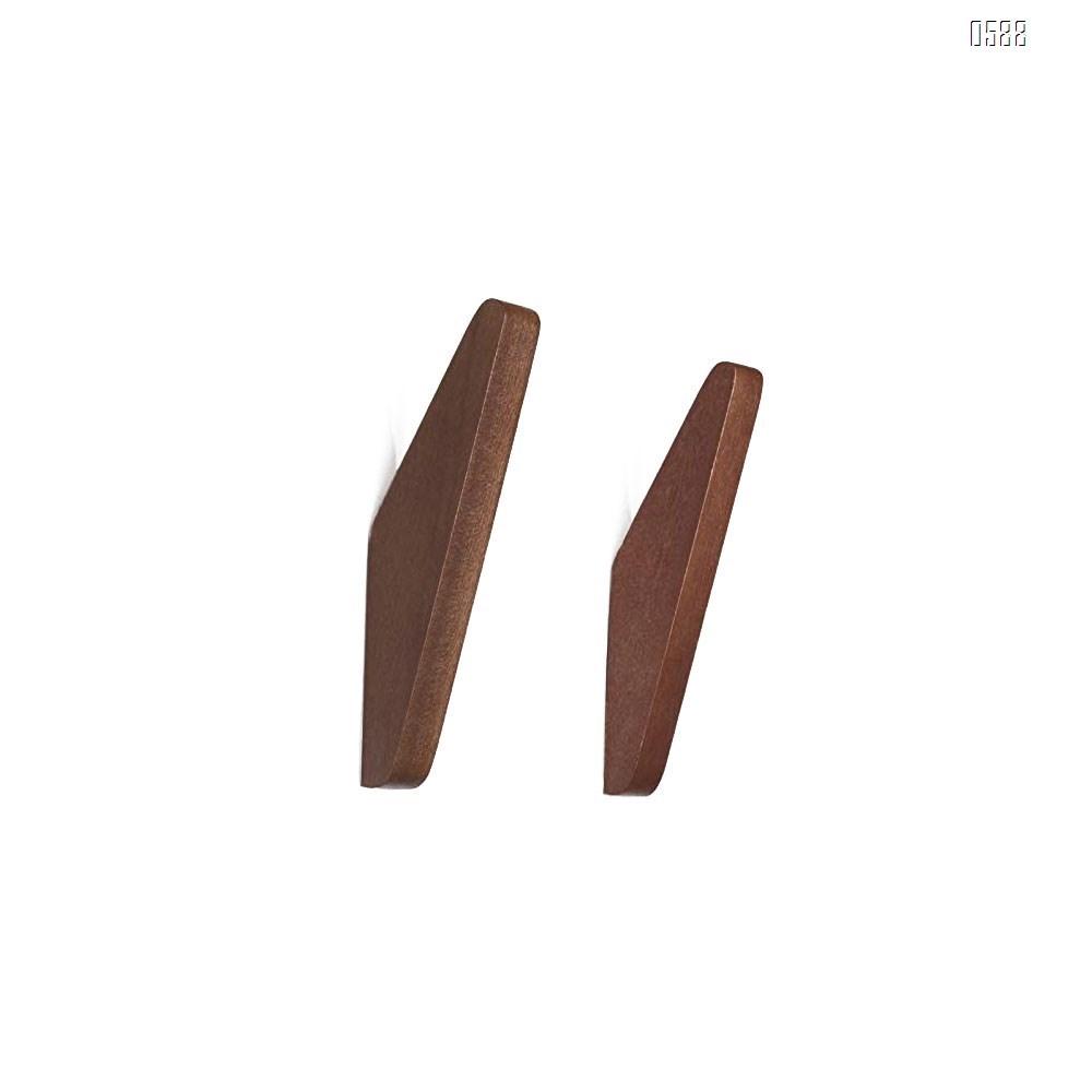 Mid-Century Modern Wall Coat Hooks Solid Teak Wood