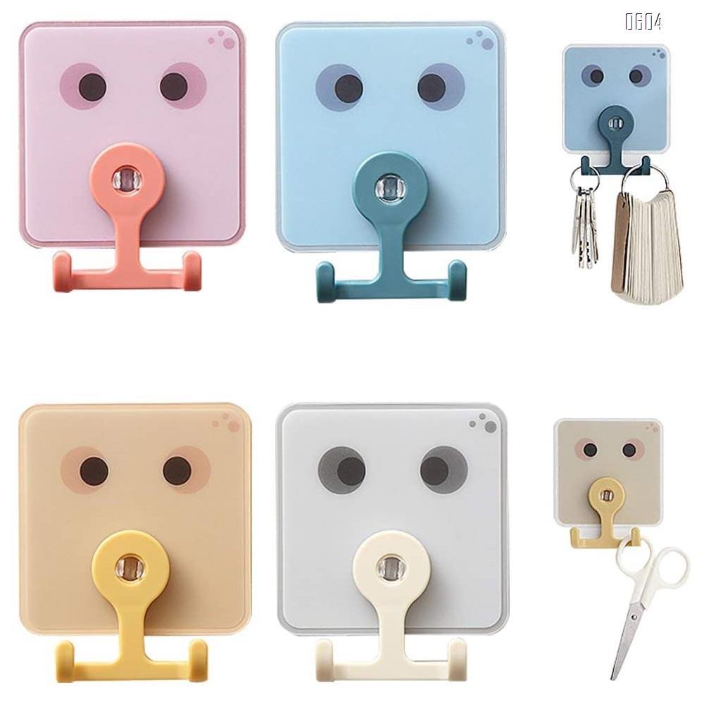 Adhesive Hooks Utility Hooks, Heavy Duty Coat Hooks Waterproof and Oilproof Seamless Hooks, Wall Hook for Bathroom Kitchen