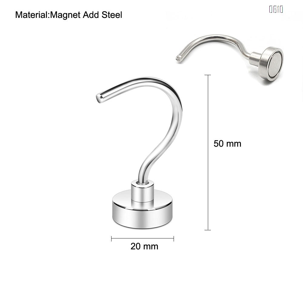 Magnetic Hooks, 17 LBS Large Opening Hook CNC Machined Base,Ideal for Cruise,Grill,Towel,Kitchen Indoor Hanging