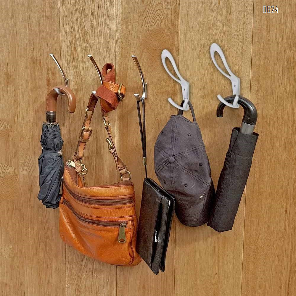 Premium Design Heavy Duty Big Three Hooks .Entryway Coat Hooks, Scarf and Jacket Hangers
