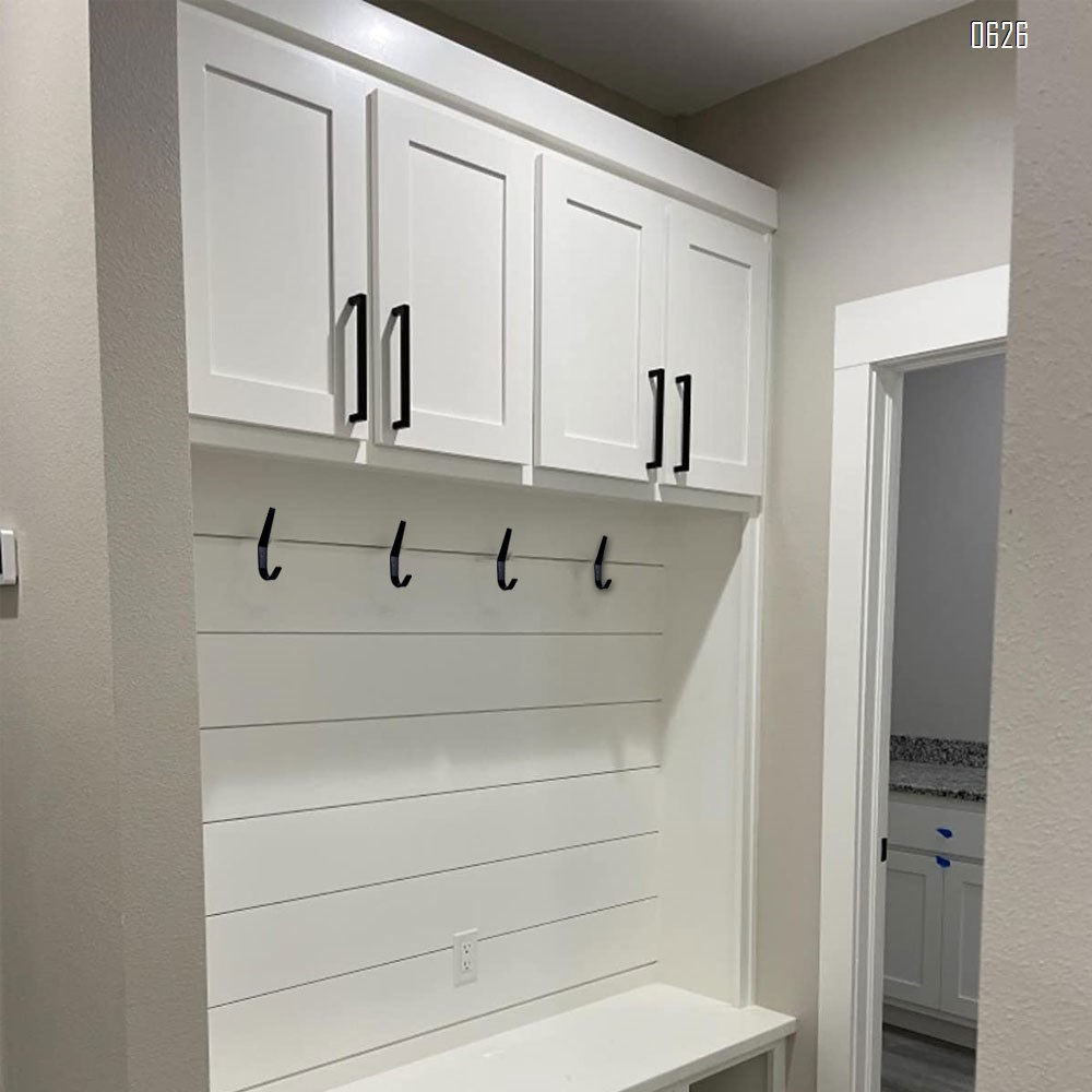 Coat Hooks Wall Mounted Towel Hook Heavy Duty Aluminum Double Robe Hanger for Bathroom Kitchen Office Farmhouse (Black)