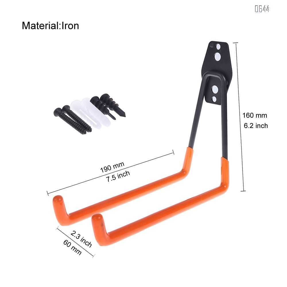U Large Garage Hooks Heavy Duty , Steel Garage Storage Hooks, Tool Hangers for Garage Wall Utility Wall Mount Garage Hooks and Hangers with Anti-Slip Coating for Garden Tools, Ladders, Bulky Items