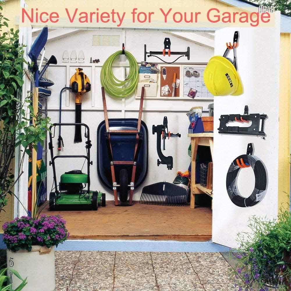 Small Garage Hooks , Sturdy Ladder Hooks, Bike and Tool Hangers for Garage Wall, Easy to Install