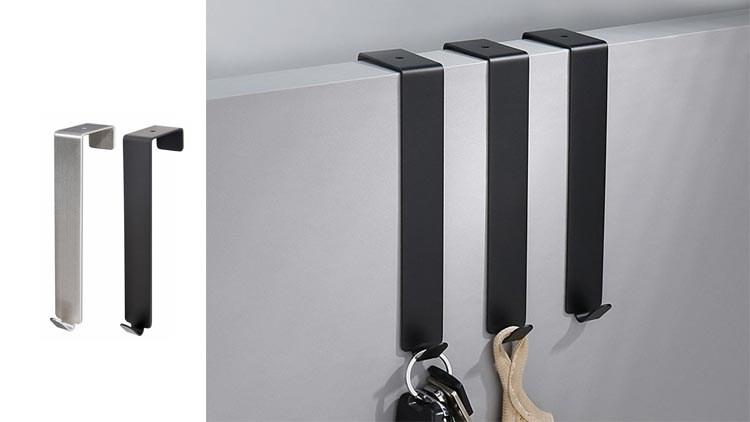 Over The Door Hook - Free Moving Adjustable Storage Organizer Rack for Hand Towel,Coat,Hat,Clothes,Hanger,Kraft Paper Bags,Towel Coat Rack Hats