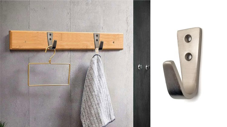 Silvery Coat Hooks for Wall, Heavy Duty Hooks for Hanging Coats No Rust Hooks Wall Mounted with Screws and Anchor for Key, Towel, Bags, Cup, Hat Indoor and Outdoor